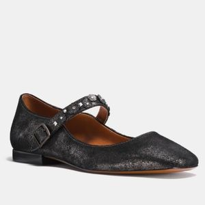 Coach Mary Jane with tea Rose anthracite 9.5